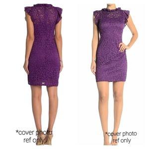 Alexia Admar Women's Purple Lace Dress